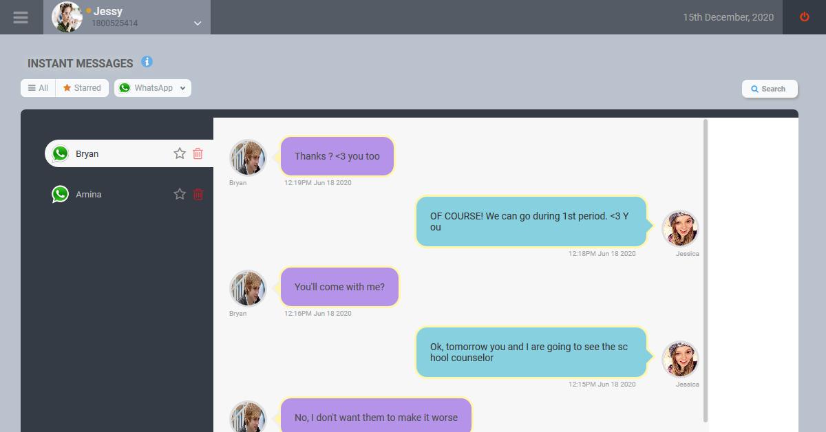 whatsapp messenger demo features