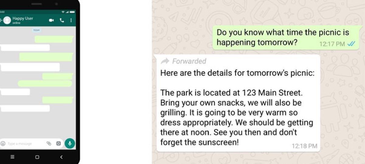 whatsapp forwarding